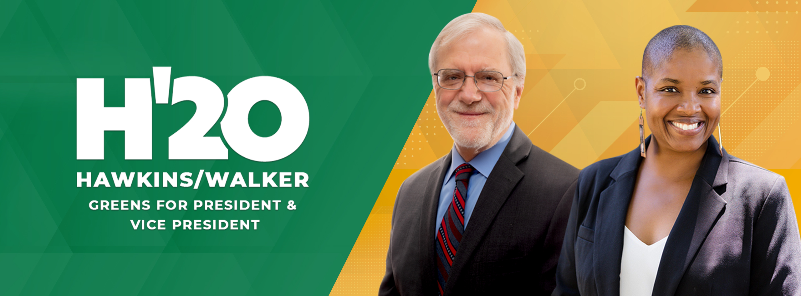 A picture of Howie Hawkins & Angela Walker, a white man and a Black woman