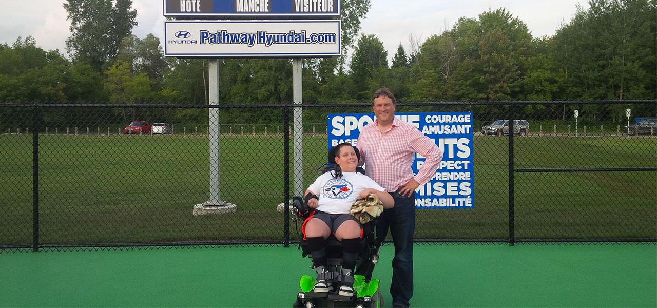 David Gourlay community accessible baseball project