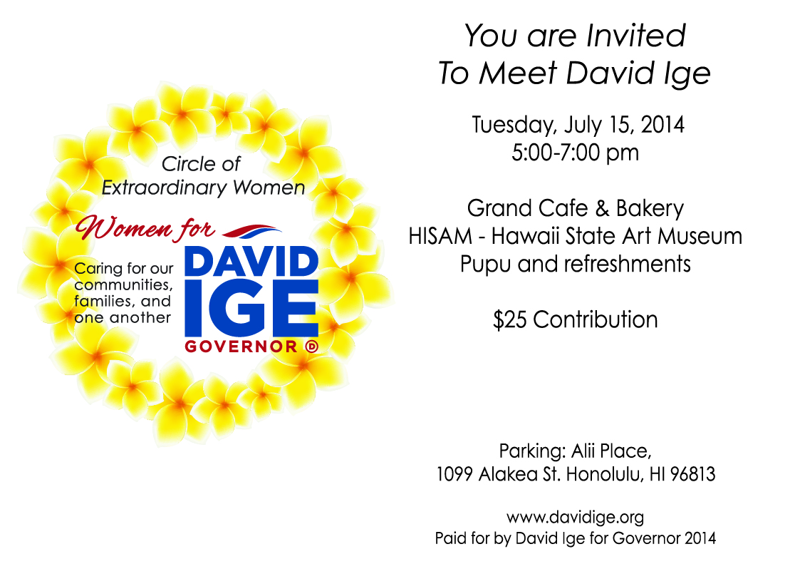 Women for David Ige