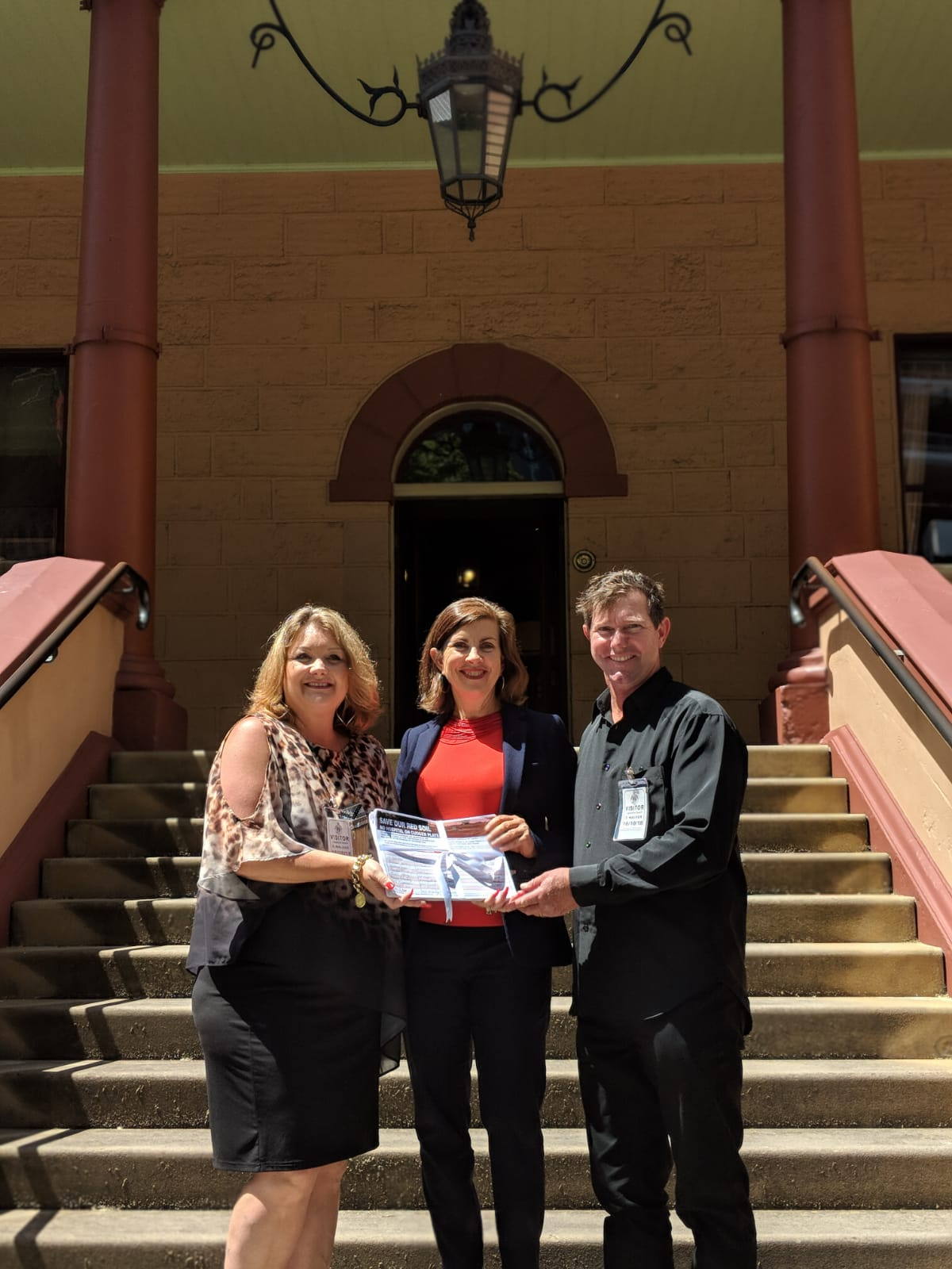 Greens MP presents Save Cudgen Farmland Petition to State Parliament - Dawn Walker MP
