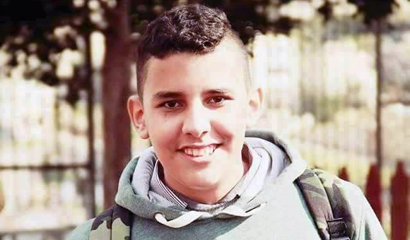 Israeli forces shot dead Mahmoud Rafat Badran, 15, near the West Bank village of Beit Ur al-Tahta on June 21, 2016.