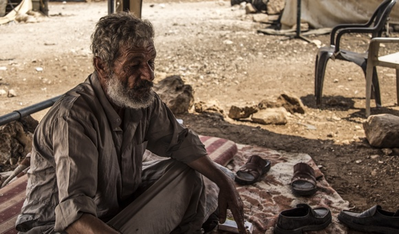 Abdul-Raheem, a resident of Al-Hadidiya, a small village in the Jordan Valley, has had his home demolished six times.(Photo: DCIP / Cody O'Rourke)