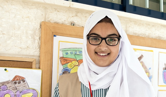 "Miran Z., 15. ""I am a member of the Palestine Children Council."" (Photo: DCIP / Cody O'Rourke)"