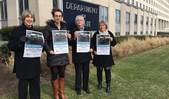 DCIP delivers 11,000 signatures to US State Department