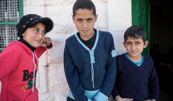 Marwa Abu Shamsiya and her brothers face regular harassment from Israeli settlers in Hebron. (DCIP/Dylan Collins)