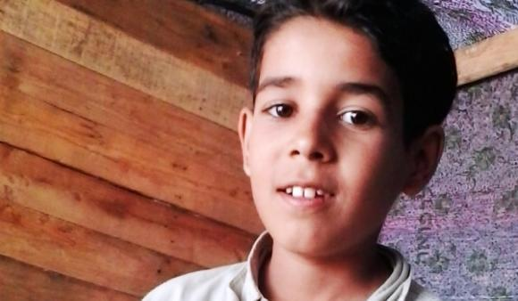 Ali al-Awour, 10, was critically wounded by an Israeli airstrike on June 11, 2014.