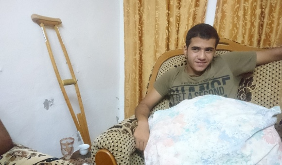 Mohammad Alawneh, 16, was shot during a night raid in Jenin refugee camp on July 30, 2017. (Photo: DCIP)