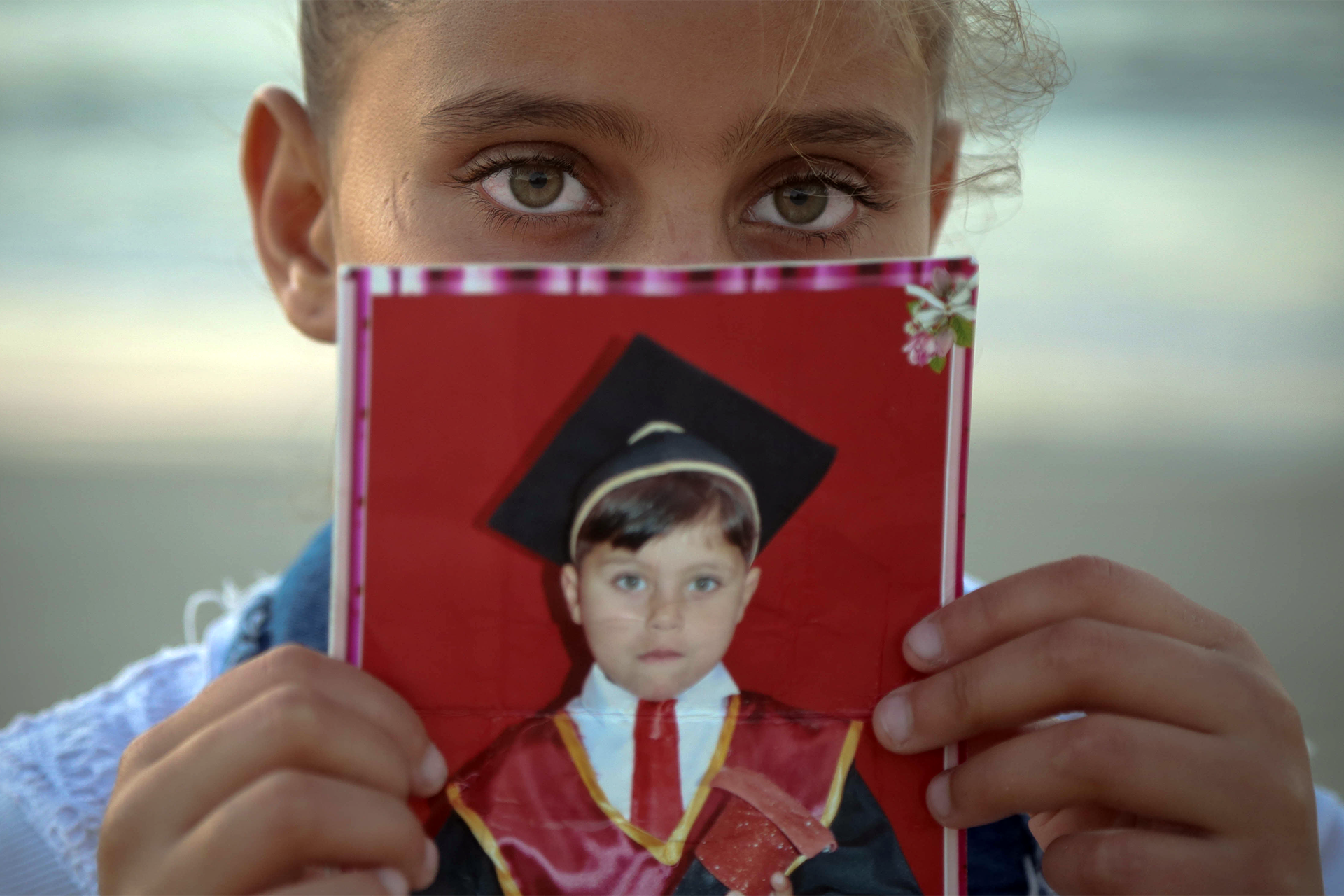 Neda al-Sayes, 11, said she never wants to swim again after her brother was believed to be killed by exposure to pollutants in the sea. (Photo: DCIP / Ezz Zanoun)