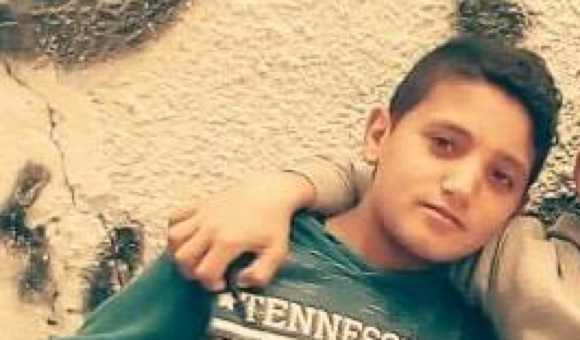 Majdi al-Satri, 11, was around 50 meters (164 feet) from the Gaza Strip perimeter fence when Israeli forces shot him in the head, killing him instantly. (Photo: Courtesy of al-Hams family.)