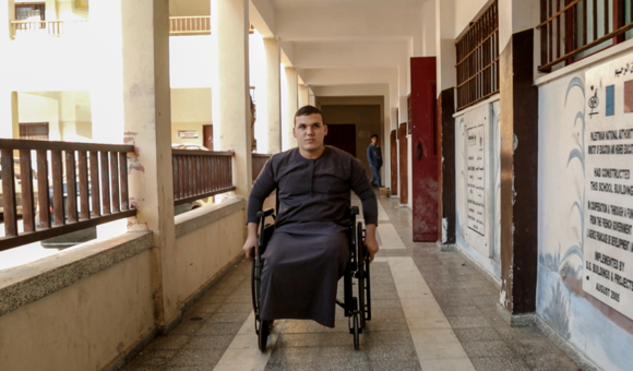 A single bullet cost Abdullah both of his legs. (Photo: DCIP / Saud Abu Ramadan)