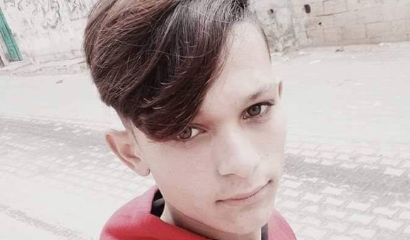Israeli forces shot Adham Amara, 17, in the head during Gaza Strip protests on March 30, 2019. (Photo: Courtesy of the Amara family)