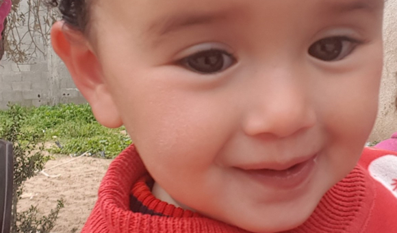 Palestinian toddler Saba Abu Arar was killed by a misfied Palestinian rocket on May 4, 2019.  (Photo: Courtesy of Abu Arar family)