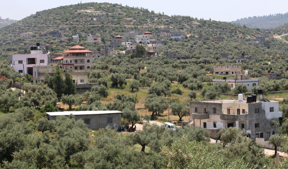 A general view of Kafr Ein, near Ramallah, in the occupied West Bank. (Photo: DCIP / Ahmad Al-Bazz)