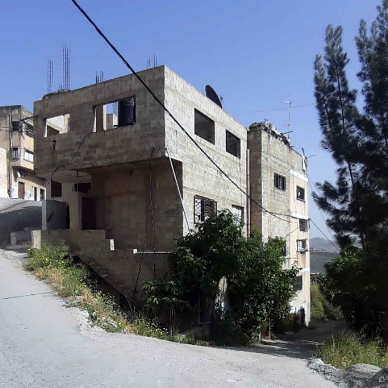Israeli forces plan to demolish part of the Abu Baker family's three-storey residential building located in the occupied West Bank town of Yabad. (Photo: DCIP)