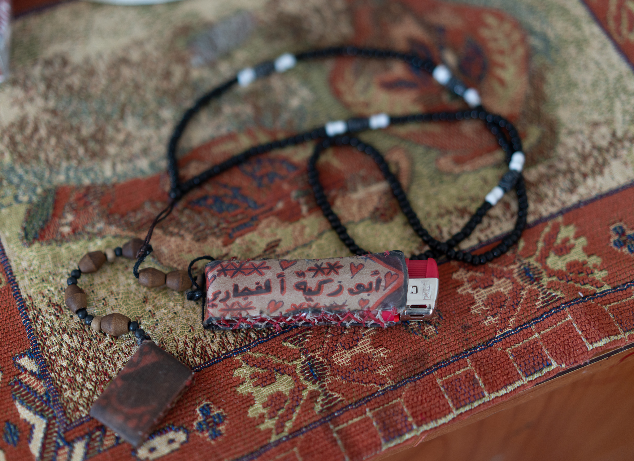 "During his detention, Ismail learned how to make handmade gifts and accessories. ""This is how you spend your time in prison,"" he told DCIP. (Photo: DCIP)"