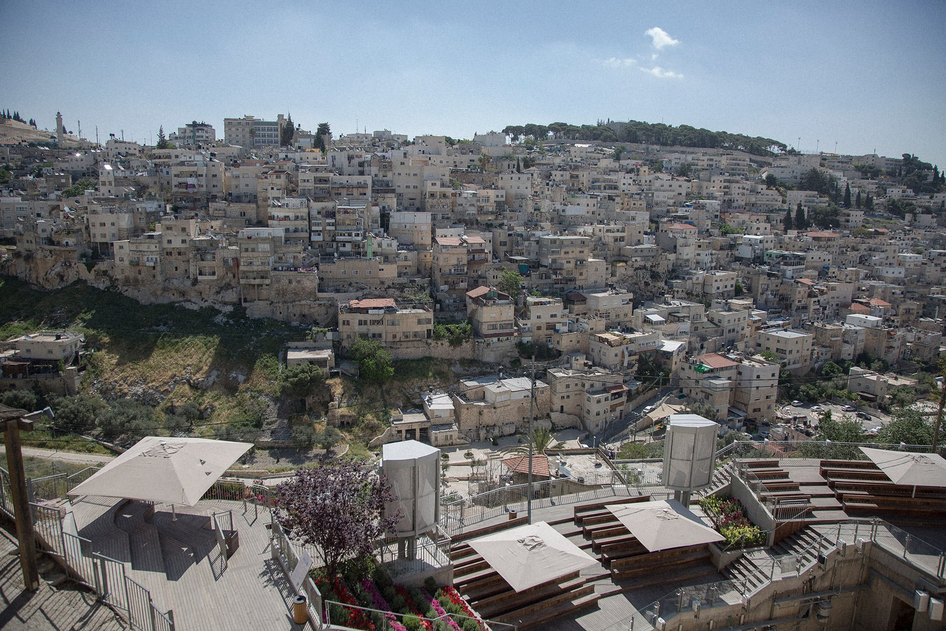 East Jerusalem's Silwan neighborhood sits south of the Old City. (Photo: DCIP / Faiz Abu Rmeleh)