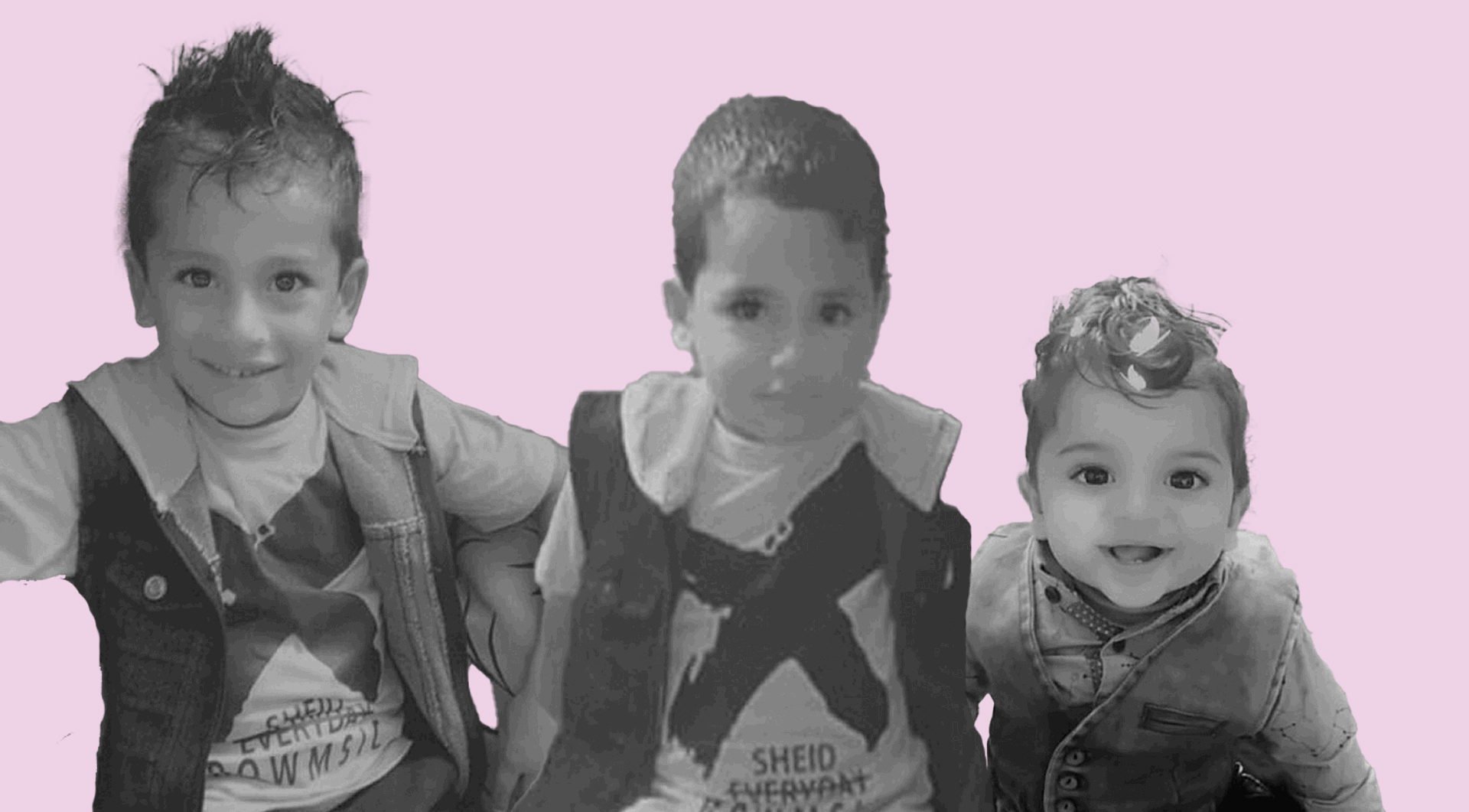 Yousef al-Hazin, 5, (left) and his brothers, four-year-old Mahmoud (center) and two-year-old Mohammad died on September 1, 2020 when their home caught on fire in the Gaza Strip. (Photos courtesy of the al-Hazin family)