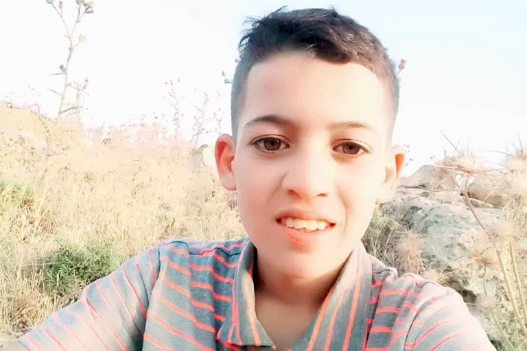 Israeli forces shot and killed 15-year-old Ali Ayman Saleh Abu Alia on December 4, 2020, in the occupied West Bank. (Photo: Courtesy of Abu Alia family)
