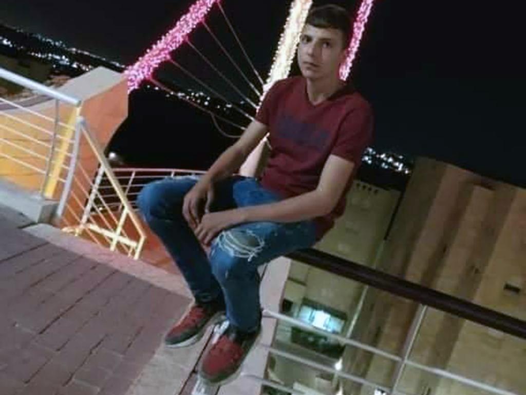 Israeli forces killed Amer Abdel-Rahim Snobar, 16, on October 24 using excessive force. (Photo: Courtesy of Snobar family)