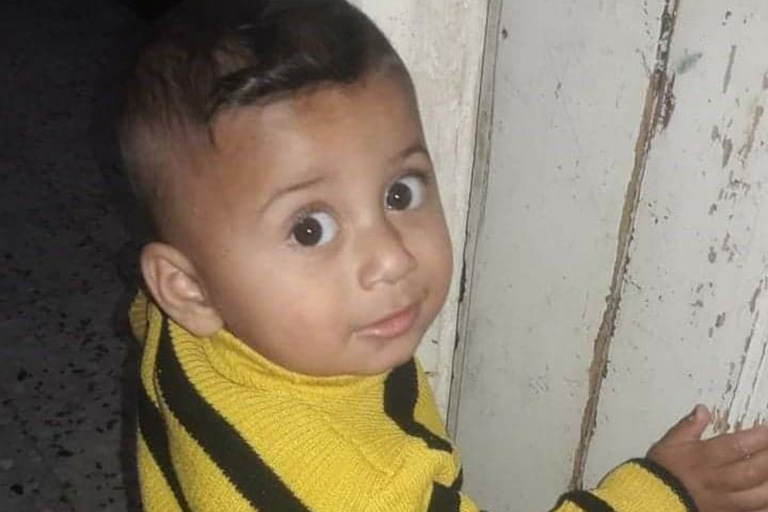 Yazan al-Masri, 2, was killed in a blast on May 10 in the northern Gaza Strip. (Photo courtesy of al-Masri family)
