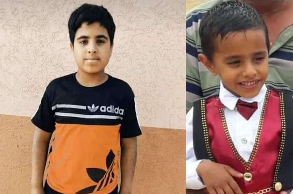 A missile fired from a U.S.-sourced Israeli Apache helicopter killed Hamada Attia Abed al-Emour, 13, (left) and his 10-year old cousin, Ammar Tayseer Mohammad al-Emour on May 12, 2021, southeast of Khan Younis. (Photos courtesy of the al-Emour family)