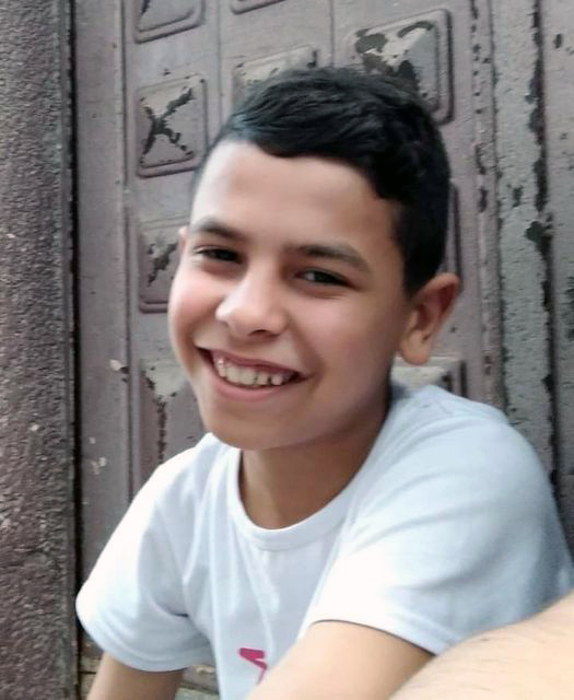 Mahmoud Hamed Hasan Tolbeh, 12, succumbed to his injuries two days after he was critically injured by shrapnel from an Israeli warplane's missile in Gaza City on May 12, 2021. (Photo courtesy of the Tolbeh family)