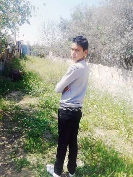Mohammad Ahmad Alya Bhar, 17, was killed on May 15, 2021, when an Israeli weaponized aerial drone fired a missile at him and a group of youth in Gaza City's Shuja'iyya neighborhood. (Photo courtesy of the Bhar family)