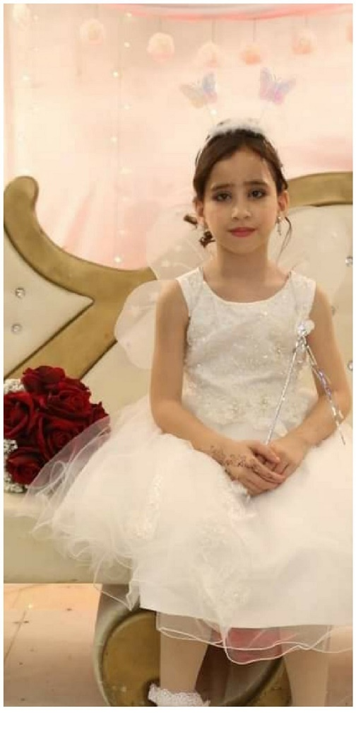 An Israeli airstrike killed 10-year-old Rafeef Mershed Kamel Abu Dayer and her uncle Zeyad as they were eating dinner on Monday, May 17. (Photo courtesy of the Abu Dayer family)