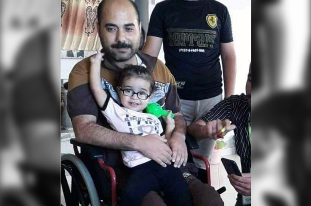 An Israeli aerial attack killed Nagham Iyad Abdulfattah Salha, 2, her father, Iyad, (pictured), and her mother, Imhawish, in Deir Al-Balah on Wednesday, May 19. (Photo courtesy of the Salha family.)