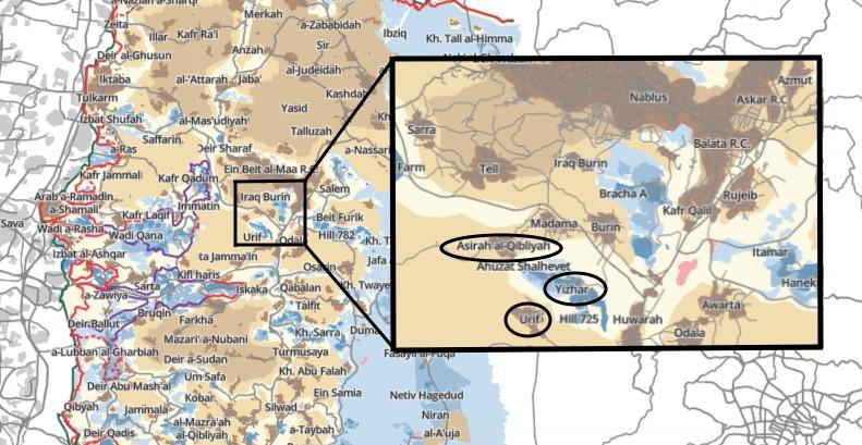 Source: B'Tselem Interactive Map