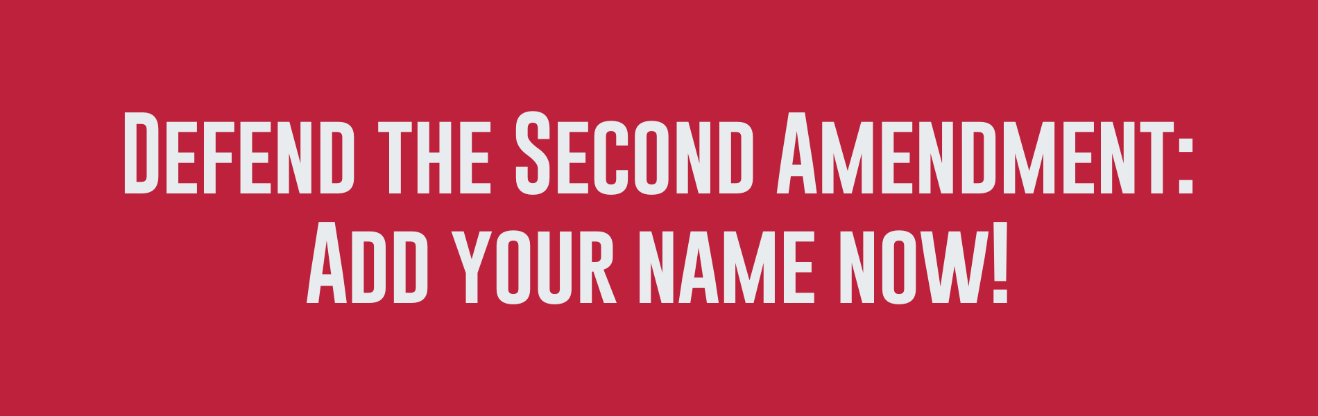 Support The Second Amendment - Add Your Name