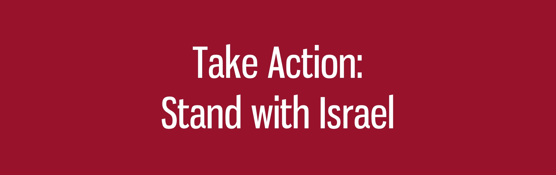 Stand With Israel: Add Your Name