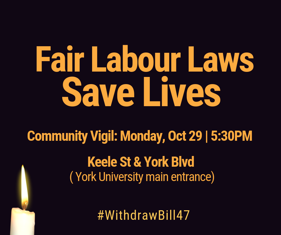 Announcing Monday's community vigil
