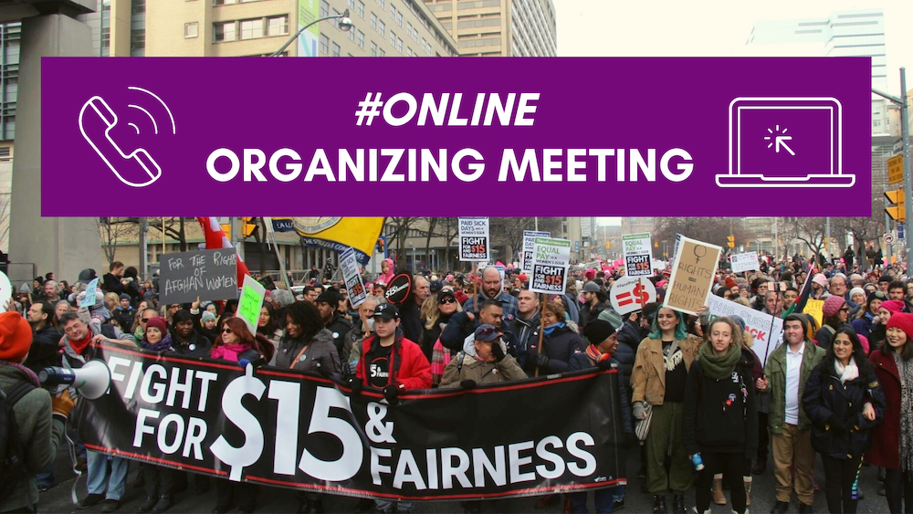 join our online organizing meeting