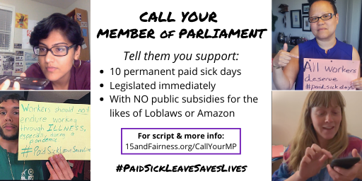 Call your Member of Parliament
