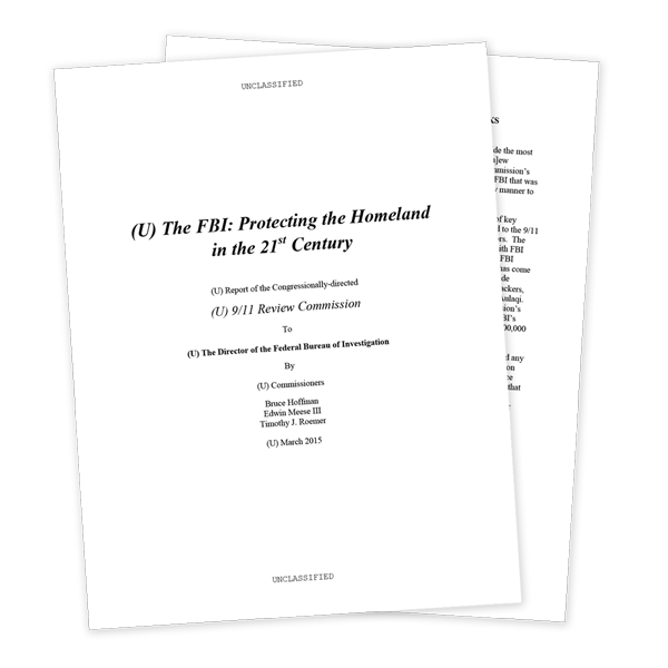 911 Review Commission Report Excerpts