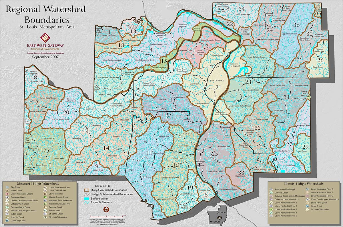 Regional Watershed Boundaries map