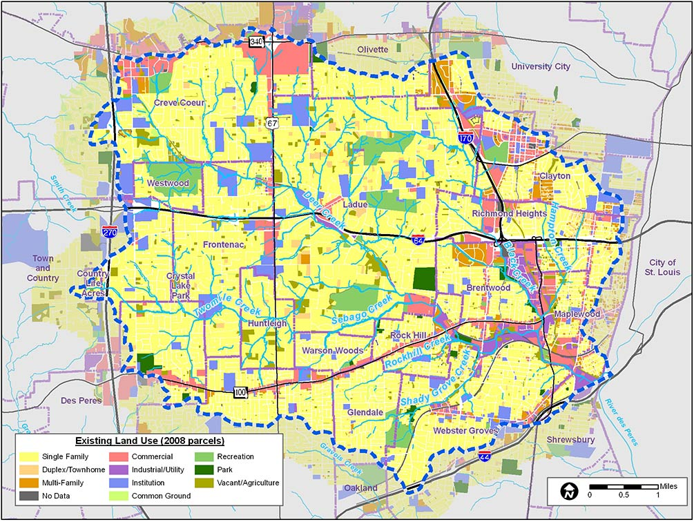 Deer Creek Watershed Land Use map