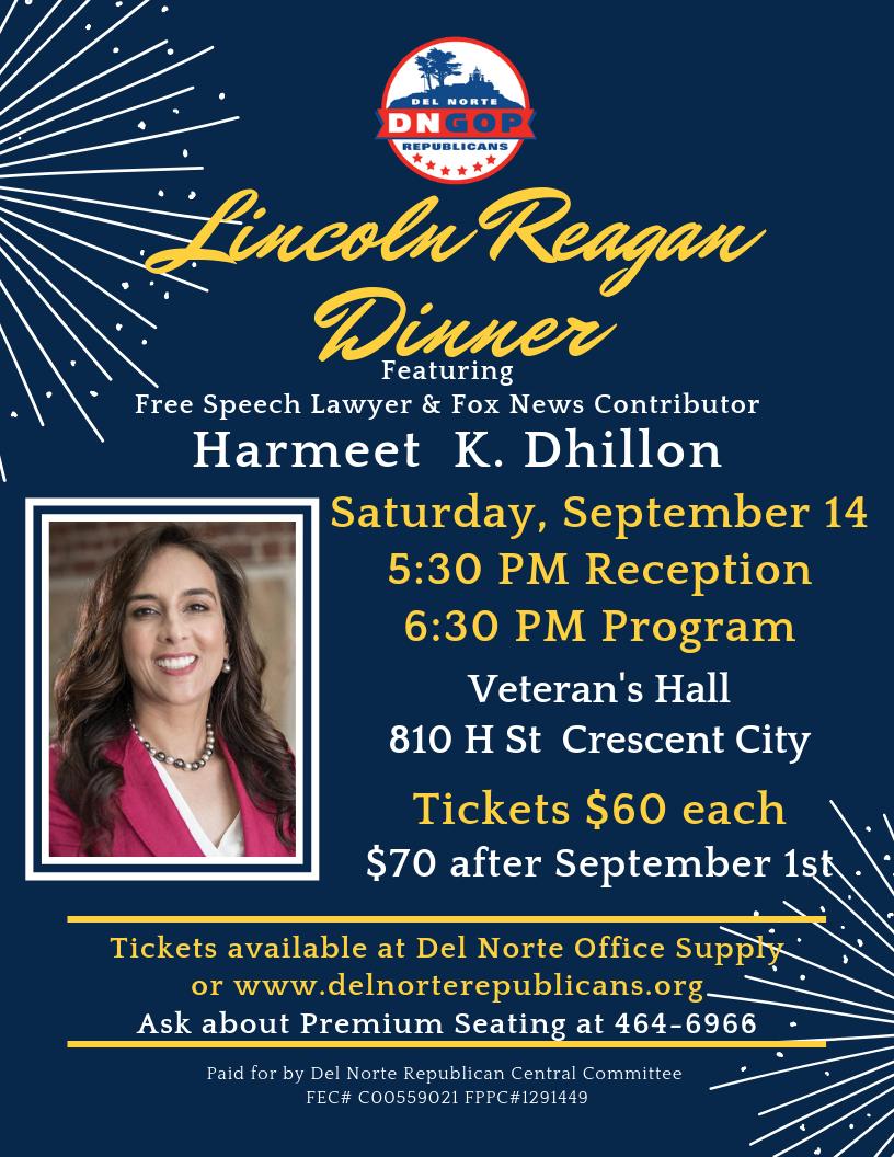 2019 Lincoln Reagan Dinner Poster