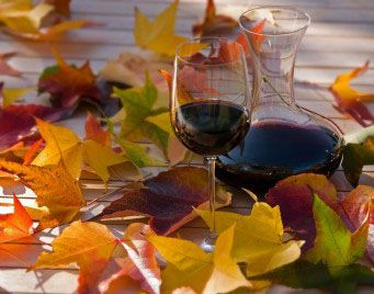 Image result for free images wine and autumn leaves
