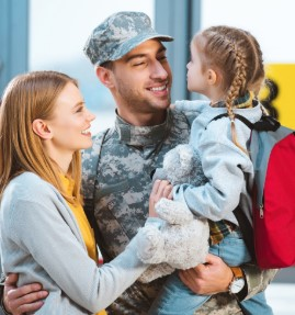 Military Family Hug