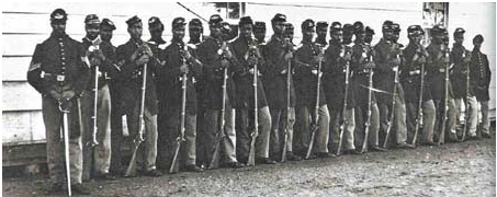 A company of 4th USCT (United States Colored Troops)
