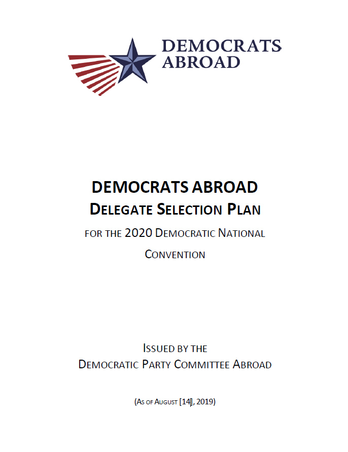 DA Delegate Selection Plan 2020