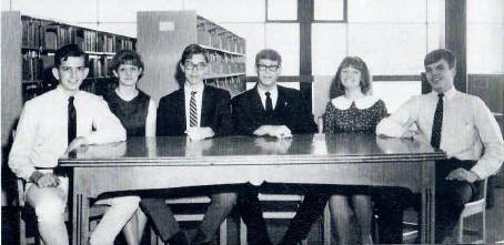 1966-678 Muskogee High School Debate Team - Joe, Betty, Mike, me, Carl