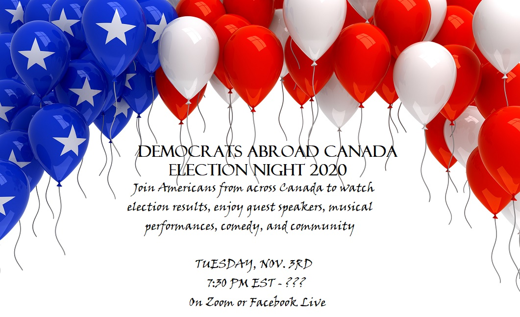 DemsAbroad Canada Election Night watch party