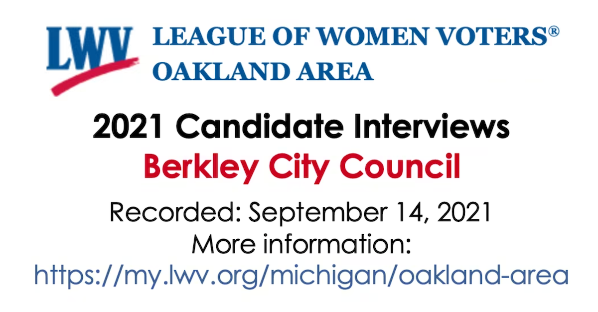 2021 League of Women Voters Candidate Interviews
