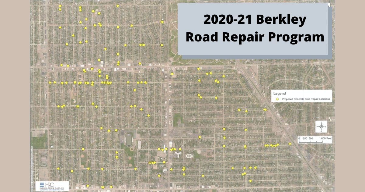 Map of proposed road repair locations