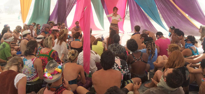 teaching at burning man 2016