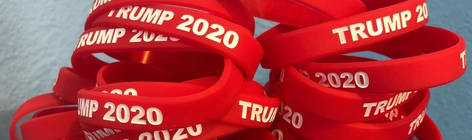 Trump 2020 wristbands red