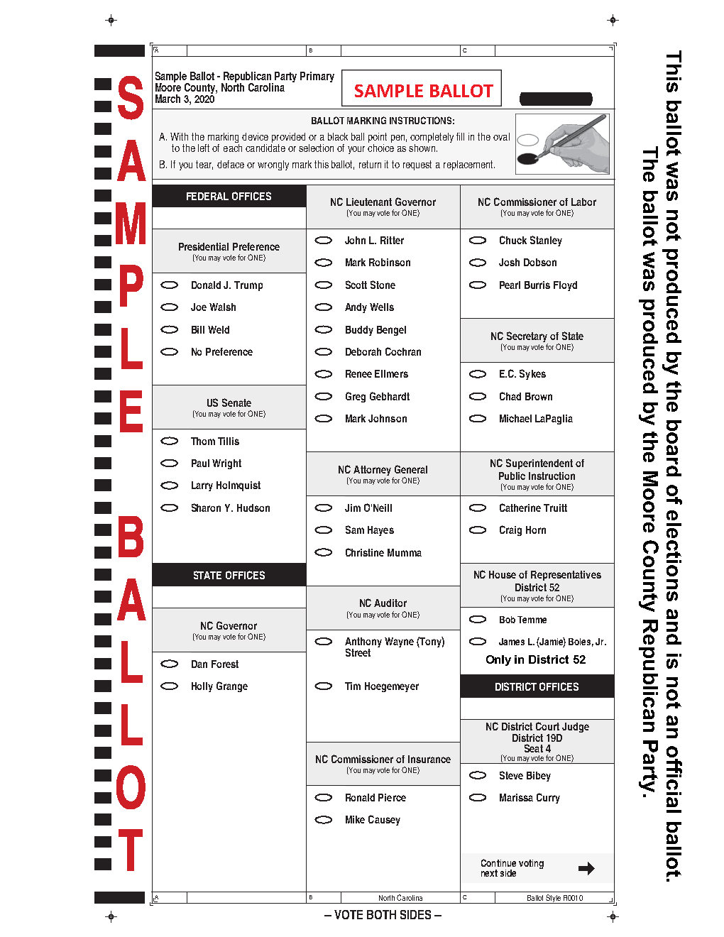 Sample Ballot 1